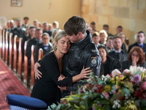 Home and Away spoilers: Jasmine screams at Robbo during his funeral