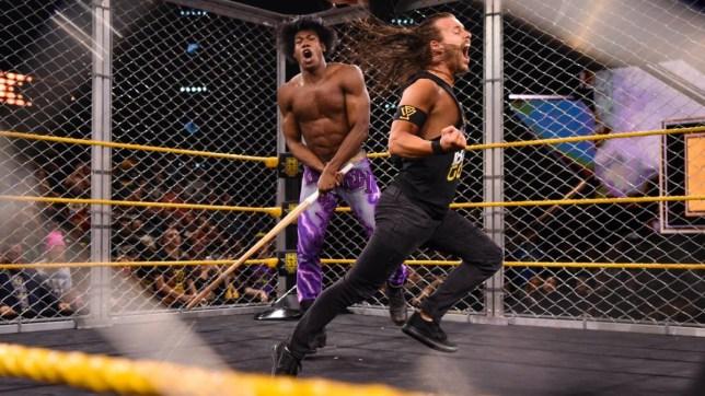 WWE superstar Velveteen Dream attacks NXT Champion Adam Cole