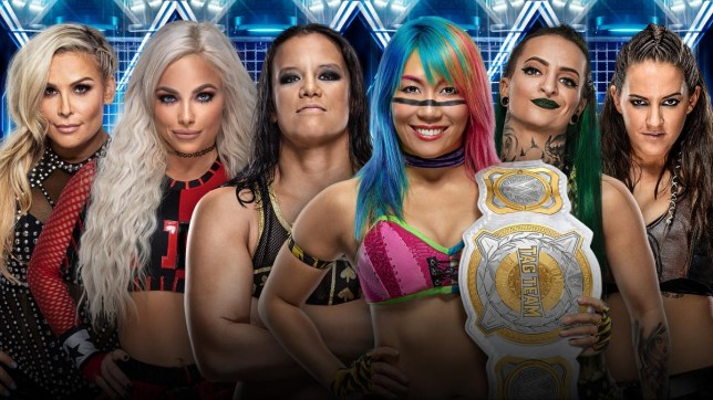 WWE Elimination Chamber lineup with Natalya, Liv Morgan, Shayna Baszler, Asuka, Ruby Riott and Sarah Logan