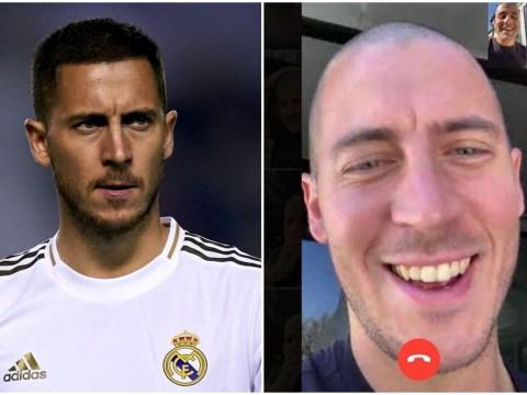 Eden Hazard reveals new bald haircut during Madrid's coronavirus lockdown