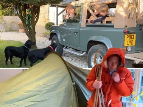 Ben Fogle won't stop exploring just because he's in lockdown as he spoofs travel adventures with his kids