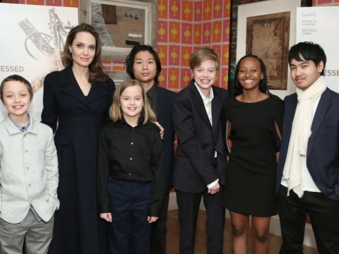 Who are Angelina Jolie and Brad Pitt's children and how many of them are there?