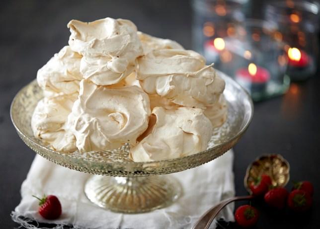 A plate of meringues
