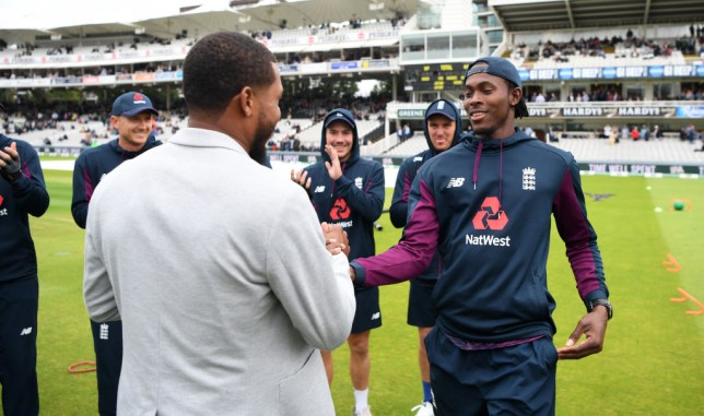 Chris Jordan presented Jofra Archer with his England Test cap last summer
