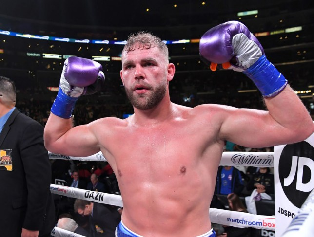 Billy Joe Saunders celebrates a win in boxing