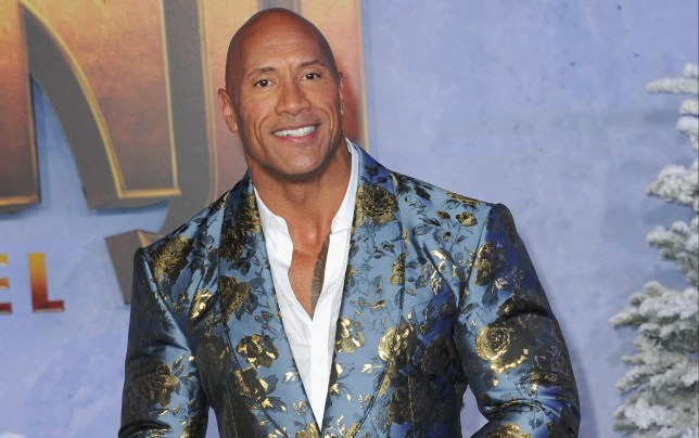 Dwayne Johnson at the premiere of Jumanji.
