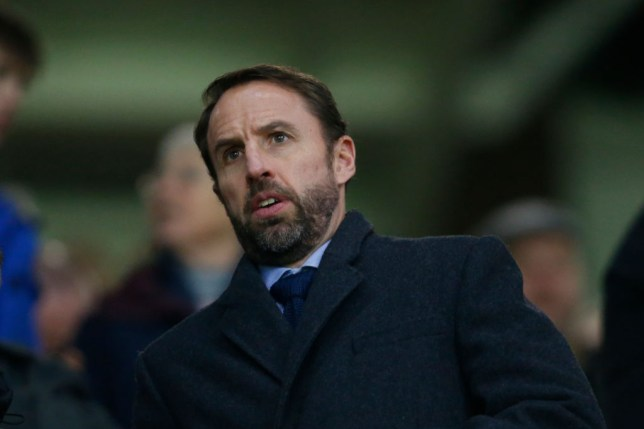 England manager Gareth Southgate attends the game during the Premier League match between Wolverhampton Wanderers and Liverpool FC