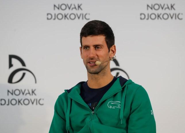 BELGRADE, SERBIA - FEBRUARY 18: Novak Djokovic of Serbia speaks to the media during a press conference at Novak Tennis Centre on February 18, 2020 in Belgrade, Serbia. (Photo by Srdjan Stevanovic/Getty Images)