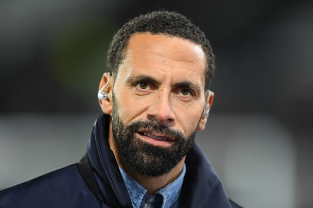 Former United player, Rio Ferdinand during the FA Cup match between Derby County and Manchester United at the Pride Park