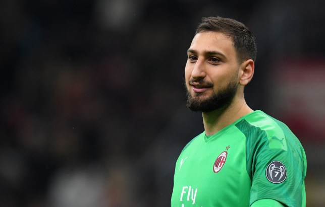 MILAN, ITALY - FEBRUARY 13:  Gianluigi Donnarumma of AC Milan looks on during the Coppa Italia Semi Final match between AC Milan and Juventus at Stadio Giuseppe Meazza on February 13, 2020 in Milan, Italy.  (Photo by Alessandro Sabattini/Getty Images)