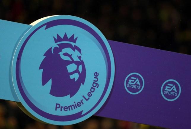 Premier League logo before a match