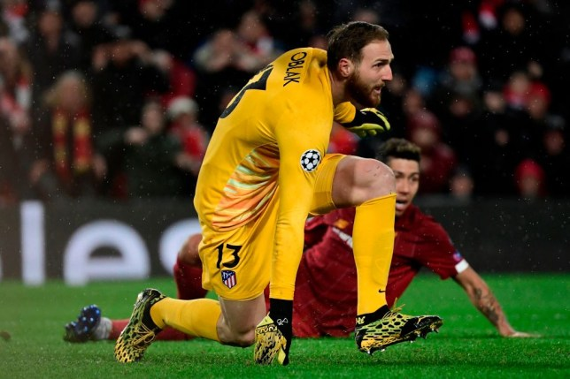Jan Oblak during Liverpool's Champions League elimination at the hands of Atletico Madrid