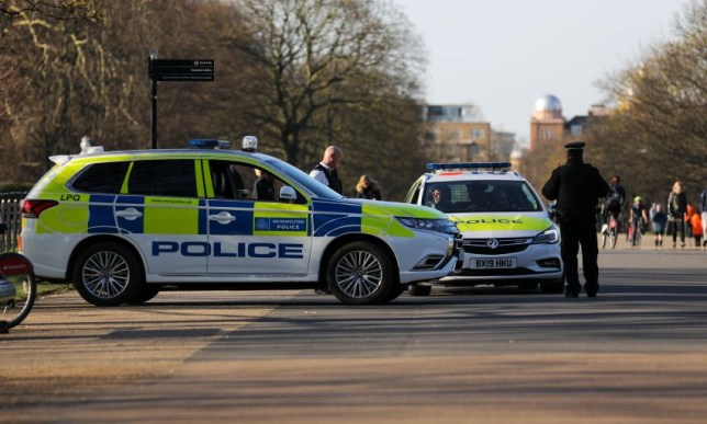 Police officers have been threatened by people deliberately coughing at them