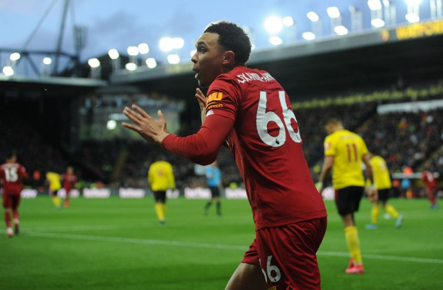 Trent Alexander-Arnold during Liverpool's Premier League defeat to Watford