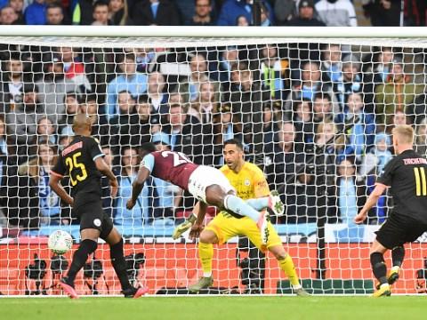 Gary Neville reacts to John Stones' 'big mistake' against Aston Villa