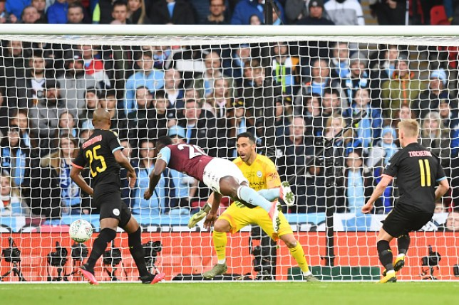 Mbwana Samatta reduced Manchester City's lead after a slip from John Stones