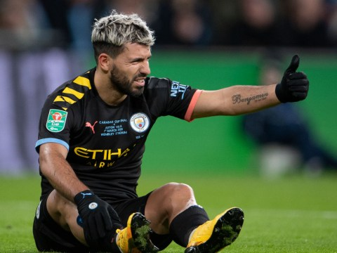 Pep Guardiola provides Sergio Aguero injury update ahead of Manchester derby