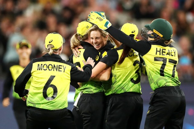 Australia celebrate during T20 World Cup win over India