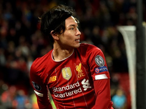 Takumi Minamino reacts to Liverpool's Champions League exit after making brief debut