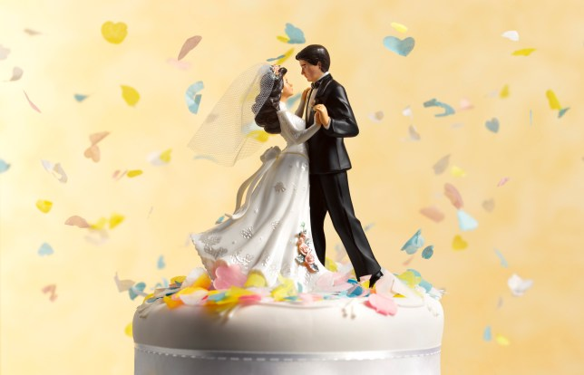 Dancing wedding cake figurines.