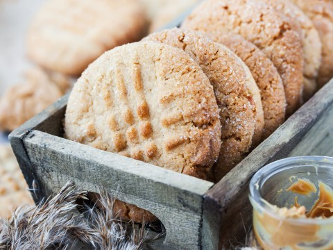 Three-ingredient flourless peanut butter cookies are perfect to make during lockdown