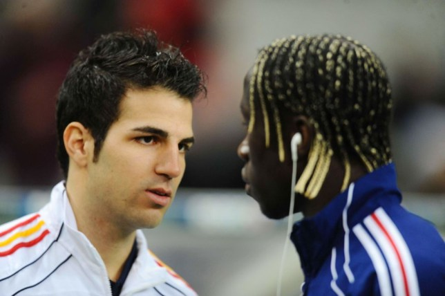 Cesc Fabregas and Bacary Sagna were teammates at Arsenal for four years