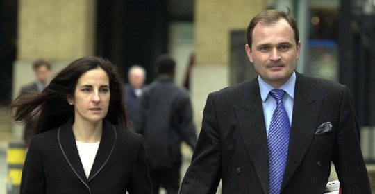 Major Charles Ingram with his wife Diana arriving at Southwark Crown,