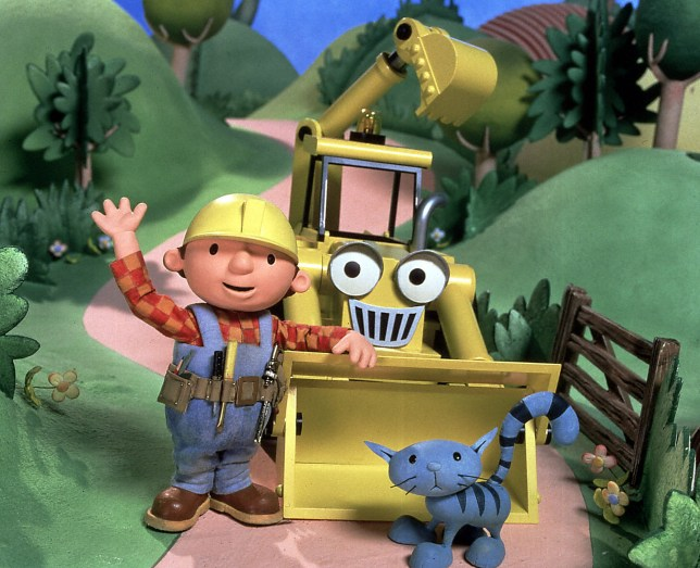TELEVISION PROGRAMME: BOB THE BUILDER...Picture Shows: Bob, Scoop the digger and Pilchard the cat TX:BBC ONE Monday 12 April 1999 COPYRIGHTED IMAGE FROM BBC ALL RIGHTS RESERVED 'Bob The Builder' follows the adventures of Bob and his team of machines: Scoop the digger, Muck the bulldozer, Lofty the crane and Roley the steamroller....0181 225 8399 Unmanipulated picture Monday 12 April 19999