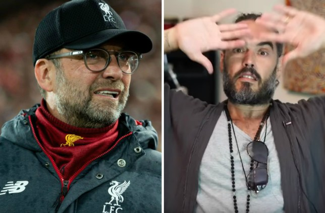 Russell Brand wishes Liverpool boss Jurgen Klopp was the Prime Minister instead of Boris Johnson