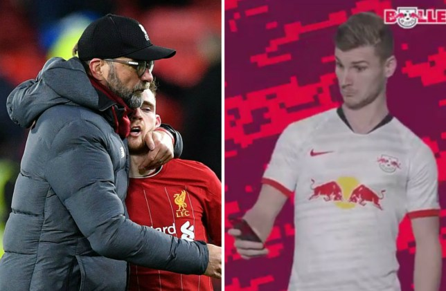 RB Leipzig sent Timo Werner message to Liverpool after unbeaten run ends