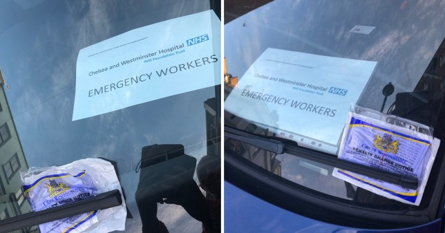 An emergency worker finished her shift to find a parking ticket on her car