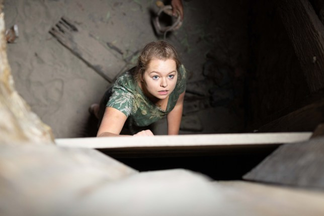 Harlow Robinson is trapped in a mine shaft in Neighbours