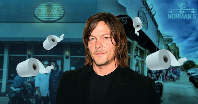 Norman Reedus restaurant dishing out loo roll and sanitizer