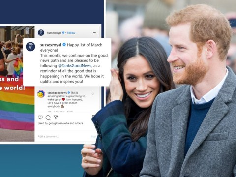 Harry and Meghan hope to 'uplift' fans with month of 'positivity'