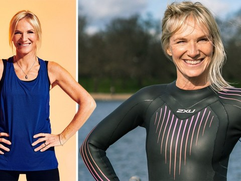 Jo Whiley oozes all the confidence in her wetsuit, as she prepares to tackle three triathlons in three days for Sport Relief 2020