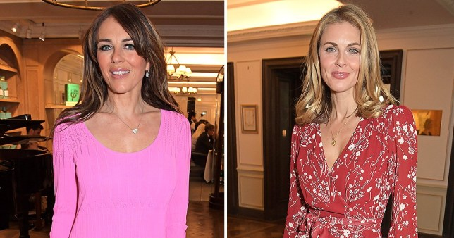 Liz Hurley and Donna Air