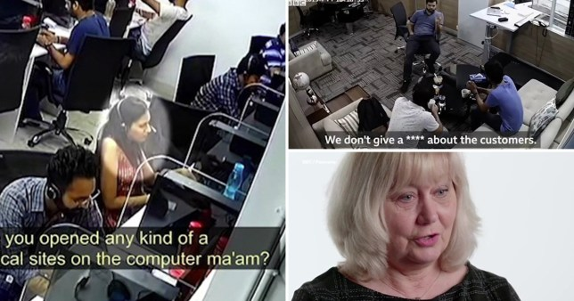 CCTV of a fraudulent call centre in Gurugram, near Delhi, India, where callers scammed British victims out of more than £300,000 every month, a BBC Panorama investigation has revealed