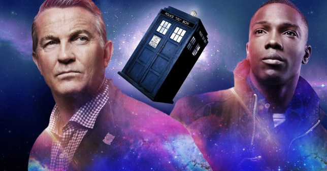 Doctor Who stars Bradley Walsh (Graham O'Brien) and Tosin Cole (Ryan Sinclair)