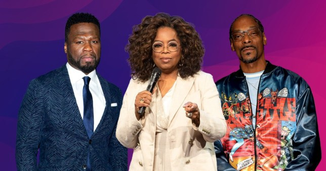 50 Cent, Oprah, Snoop Dogg
