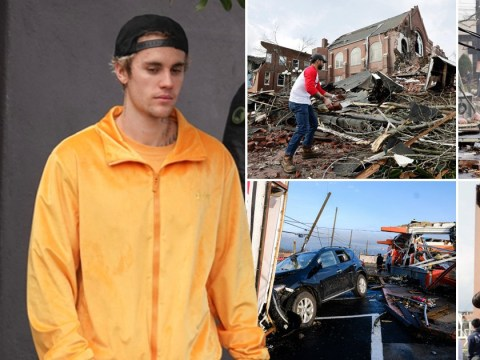 Justin Bieber leads tributes to Nashville after at least 22 lives are lost following devastating tornado
