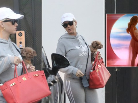 Pregnant Katy Perry delighted she no longer has to hide baby bump with handbag