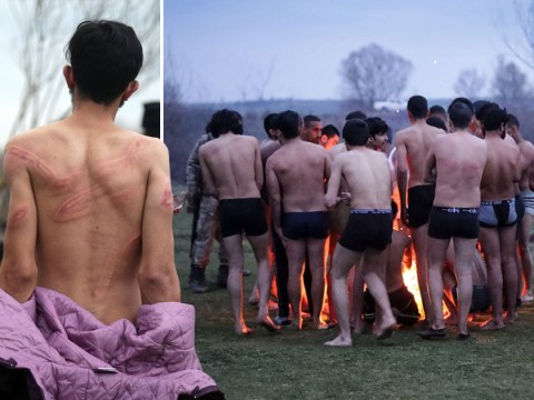Refugees stripped to their underwear as they're forced back into Turkey
