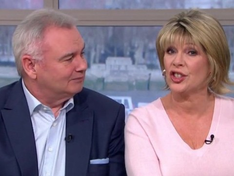 Ruth Langsford awkwardly shuts down Eamonn Holmes and tells him to 'shush' during big announcement