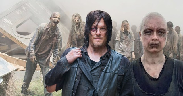 The Walking Dead's Norman Reedus and Samantha Morton as Daryl and Alpha