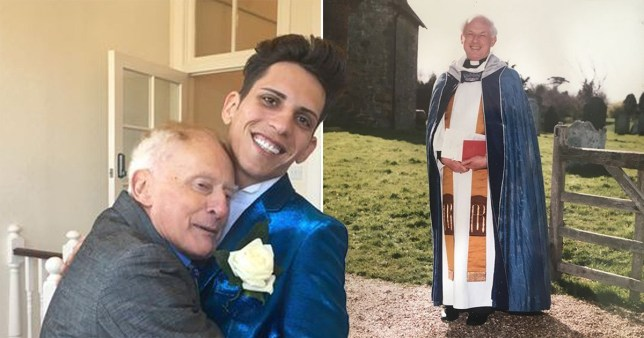 composite of ex vicar Philip Clements, 81, and Florin Marin 27