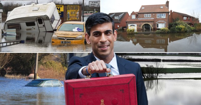He announced extra funding for flood defences