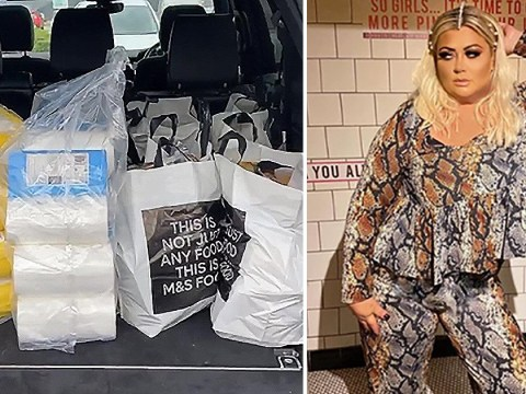 Gemma Collins stocks up on toilet roll and wine as she panic buys for coronavirus lockdown
