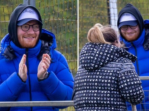 Ed Sheeran fan-girling over wife Cherry Seaborn at hockey game is the cutest thing you'll see all day