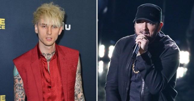 Machine Gun Kelly/Eminem performing on stage