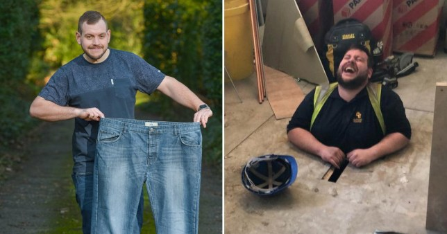 daniel mann realised he needed to lose weight after getting stuck in the floorboards